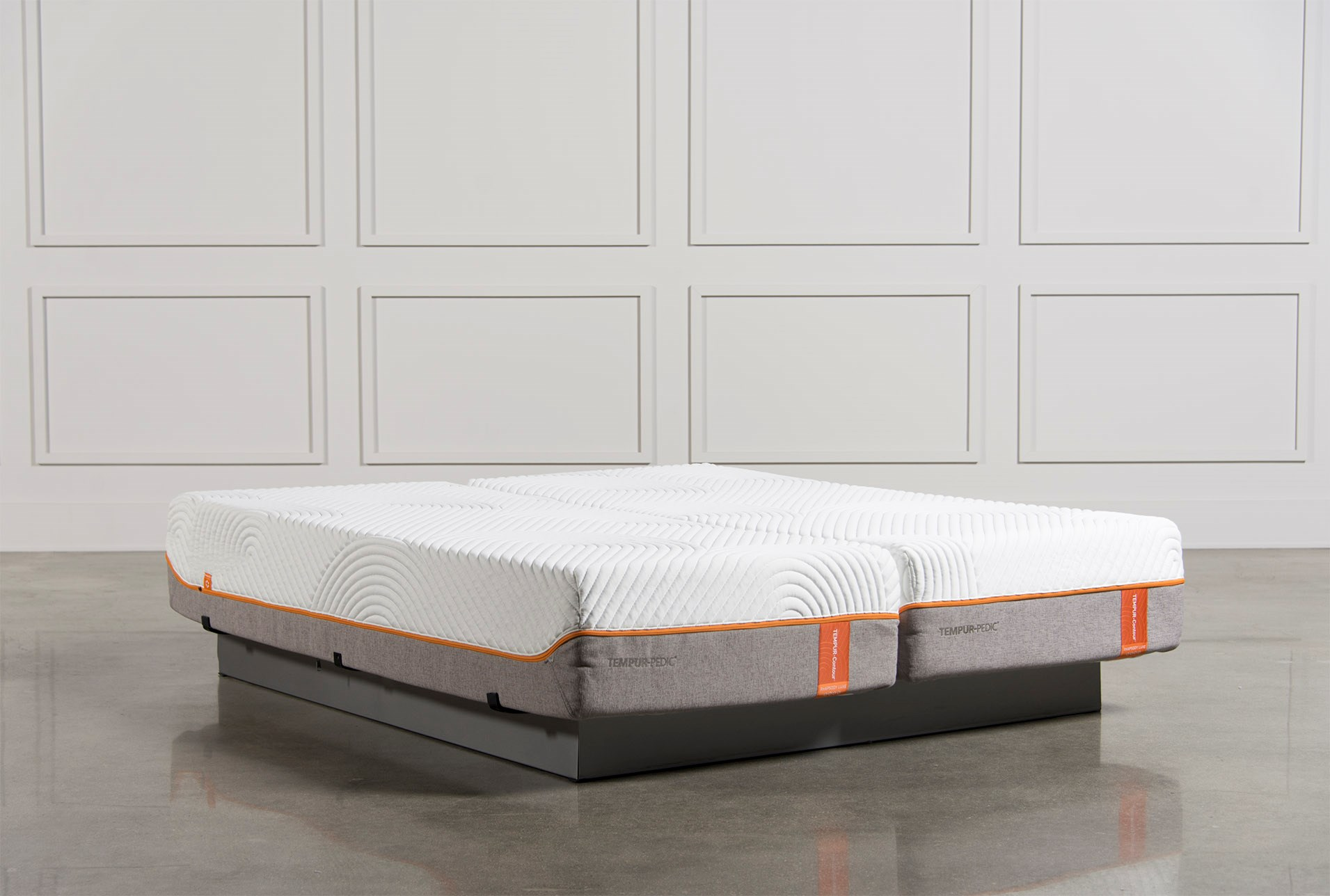 Tempur Pedic Contour Rhapsody Luxe Cal King Split Mattress Set