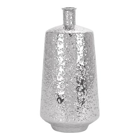 20 Inch Ceramic Silver Vase