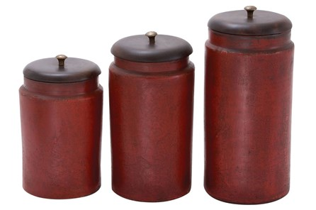 3 Piece Set Terracotta Jars - Main