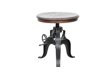 Tobias 22 Inch Round Crank Table - Main