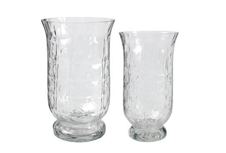 2 Piece Set Glass Tulip Candleholders