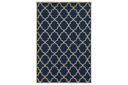 94X130 Outdoor Rug-Montauk Navy - Main