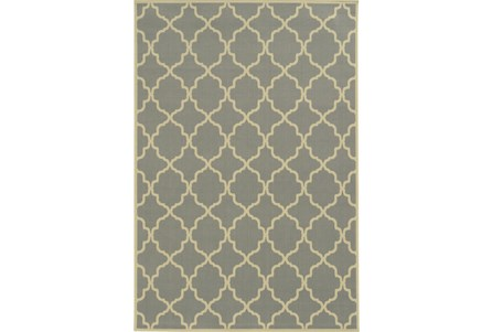 94X130 Outdoor Rug-Montauk Grey