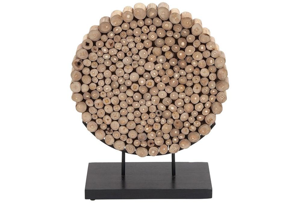 Round Teak Wooden Decor