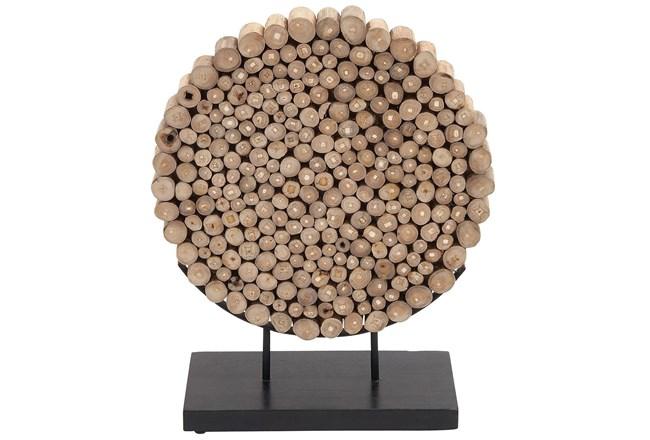 Round Teak Wooden Decor - 360