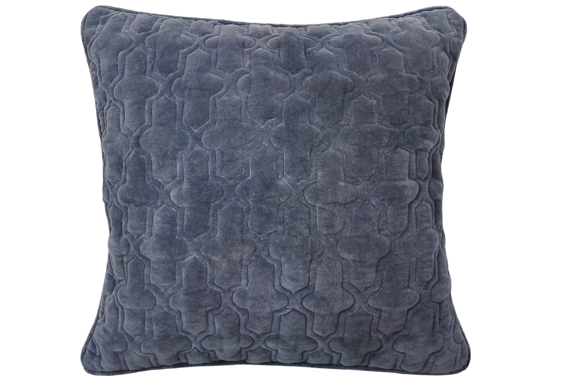 Accent Pillow Ryan Velvet Slate 22x22 Living Spaces