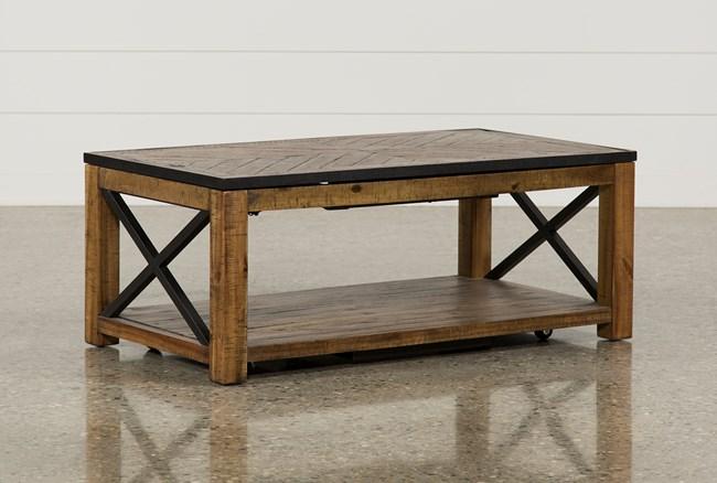 Tillman Rectangle Lift-Top Cocktail Table - 360
