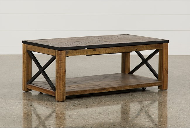 Tillman Rectangle Lift-Top Coffee Table - 360