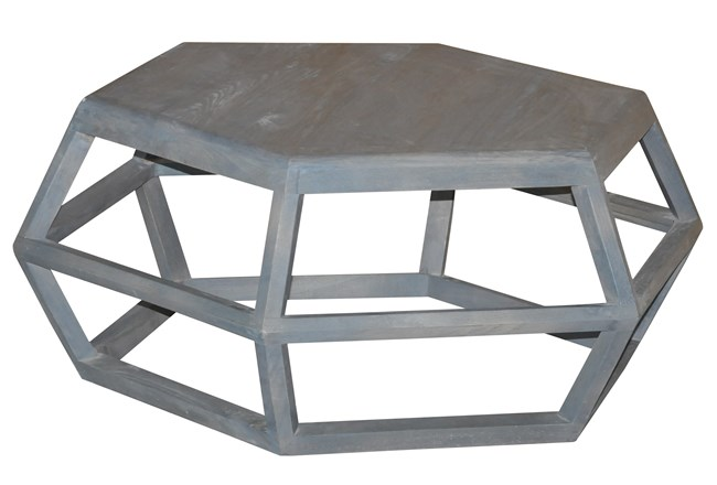 Hexagon Cocktail Table Living Spaces - Hexagon cocktail table