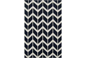 8'x11' Rug-Azibo Blue Chevron