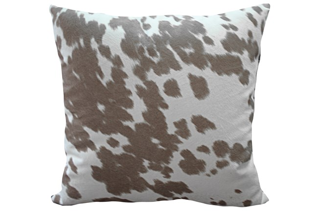 Accent Pillow-Reiter Hide Taupe 22X22 - 360