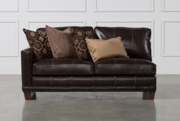 Barnaby Leather Left Facing Loveseat
