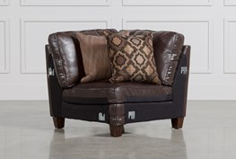Barnaby Leather Corner Chair