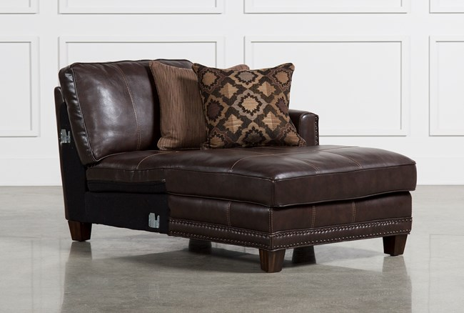 Barnaby Leather Right Facing Chaise - 360