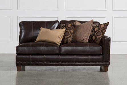 Barnaby Leather Right Facing Loveseat