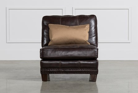 Barnaby Leather Armless Chair