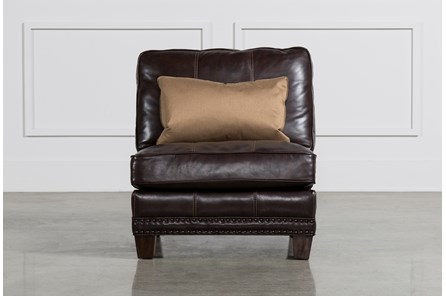 Barnaby Leather Armless Chair - Main