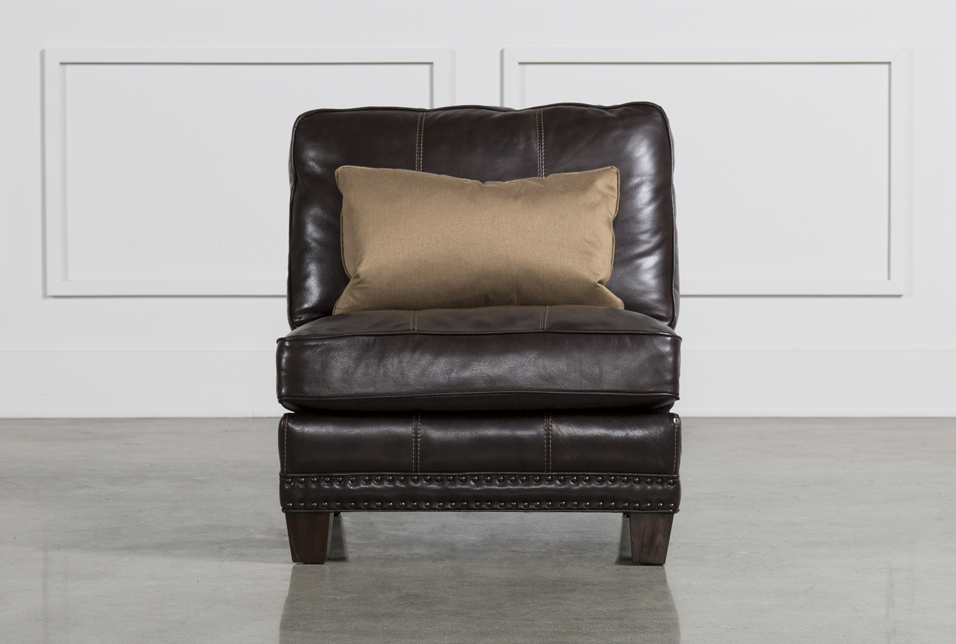 Barnaby Leather Armless Chair   360