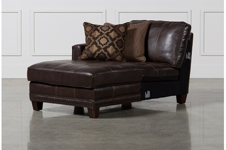 Barnaby Leather Left Facing Chaise - Main