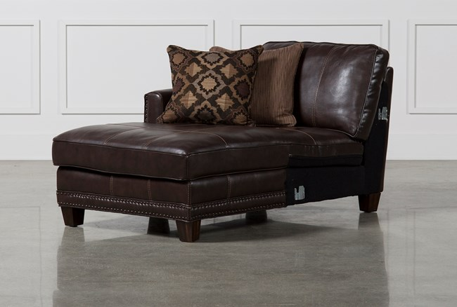 Barnaby Leather Left Facing Chaise - 360
