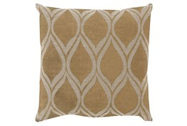 Accent Pillow-Cameron Oval Gold Metallic 20X20