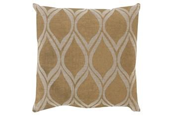 Accent Pillow-Cameron Oval Gold Metallic 20X20