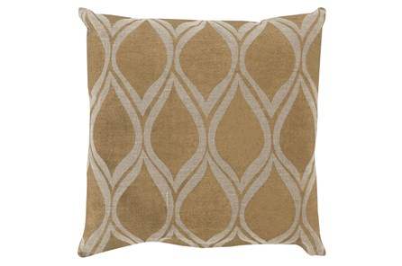 Accent Pillow-Cameron Oval Gold Metallic 20X20 - Main