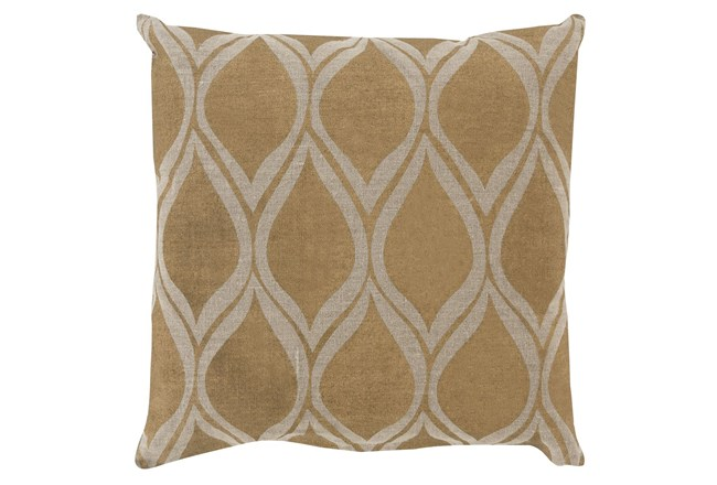 Accent Pillow-Cameron Oval Gold Metallic 20X20 - 360