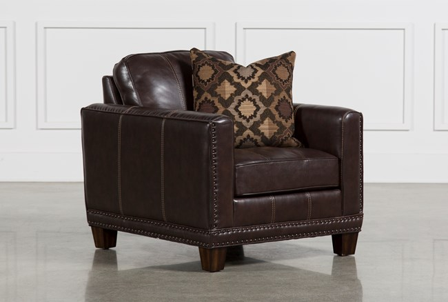 Barnaby Leather Chair - 360