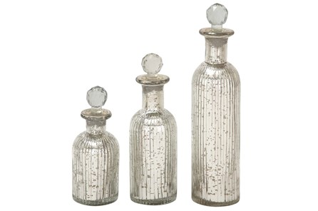 3 Piece Set Glass Stopper Bottles - Main