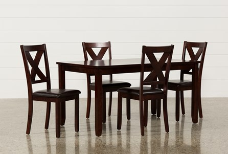 Dakota 5 Piece Dining Table W/Side Chairs