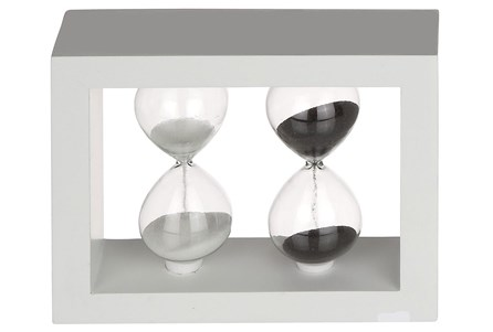 5 Inch Wood & Glass Sand Timer