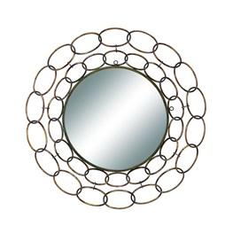 Mirror-Silver Links 35 Inch Round