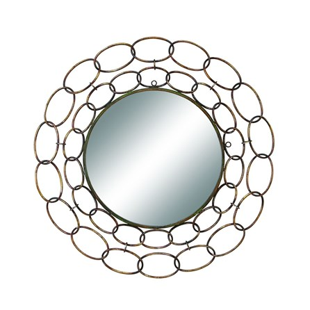 Mirror-Silver Links 35 Inch Round
