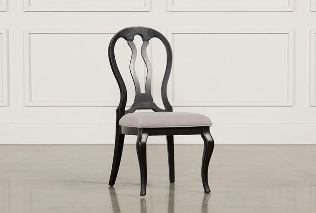 Laurel Black Side Chair - 360