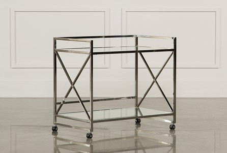 X Frame Bar Cart