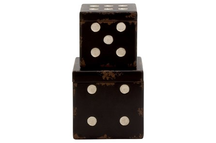 2 Piece Set Wood Dice Boxes - Main