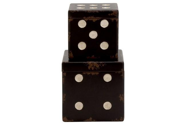 2 Piece Set Wood Dice Boxes - 360