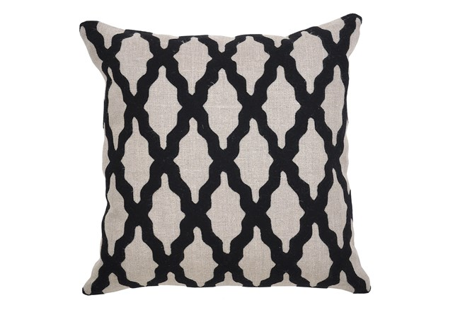Accent Pillow-Bathesda Black 18X18 - 360