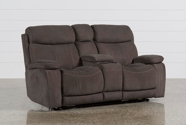 Colt Power Reclining Loveseat W/Console - 360