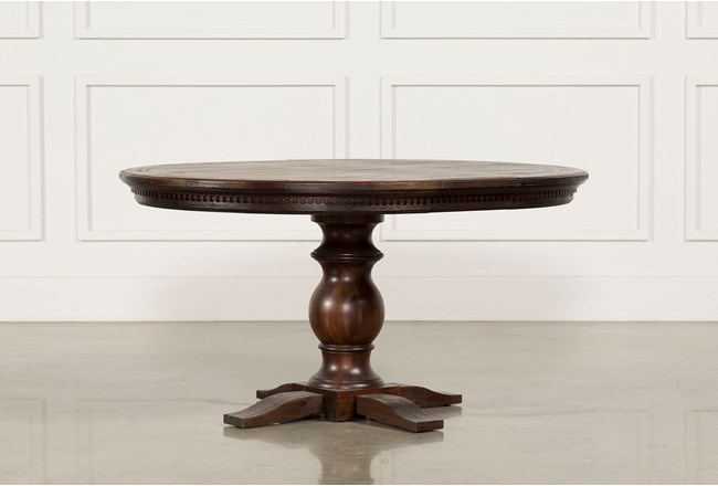 Jefferson Extension Round Dining Table Living Spaces - Round table extension pad