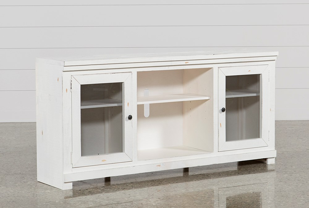 Sinclair White 68 Inch TV Stand