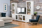 Sinclair White 68 Inch TV Stand - Room