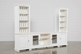 Sinclair White 3 Piece Entertainment Center