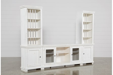 Sinclair White 3 Piece Entertainment Center - Main