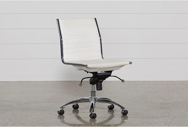 Fraser White Office Chair - 360