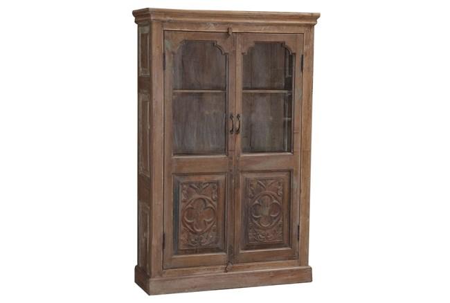 Jacinto Carved Glass Cabinet - 360