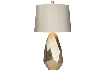 Table Lamp-Faceted Gold - Main
