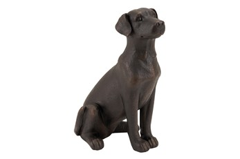 16 Inch Polystone Sitting Dog