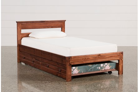 Sedona Twin Platform Bed With Trundle With Mattress - Main